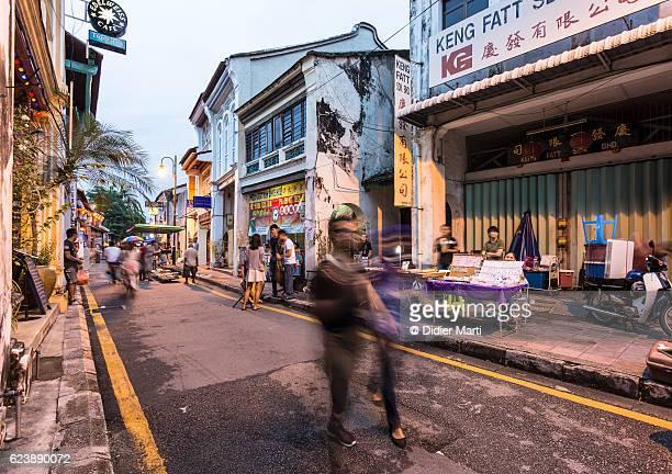 armenian street in georgetown, penang, malaysia - didier marti stock-fotos und bilder
