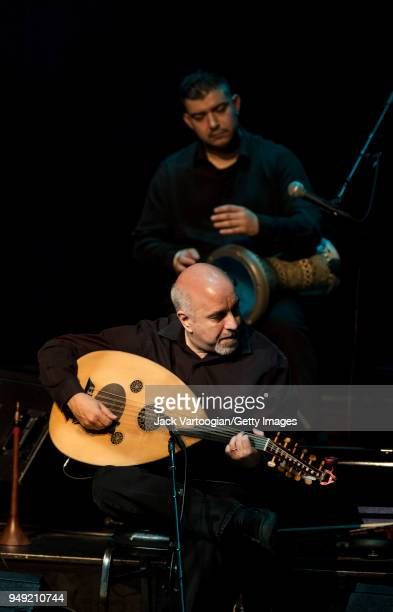 ArmenianAmerican oud player Ara Dinkjian and Turkish dumbek player Murat Tekbilek perform with the Omar Faruk Tekbilek Ensemble in a concert...