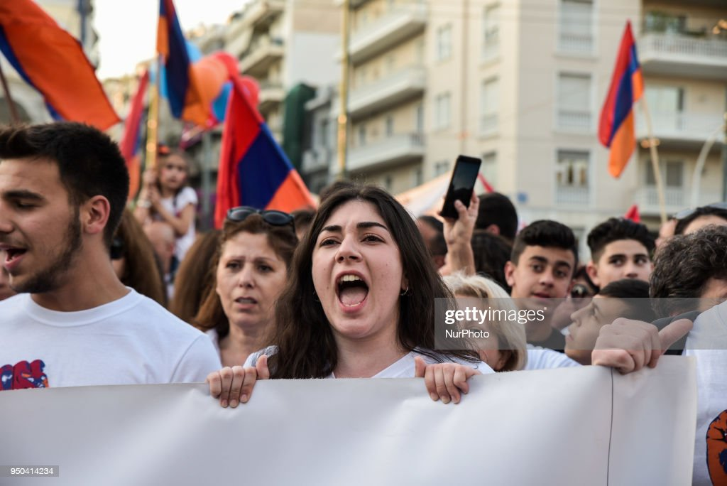 Armenian Genocide Commemoration In Athens