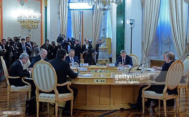 Armenia's President Serge Sarkisian, Belarus' President Alexander Lukashenko, Kazakhstan's President Nursultan Nazarbayev, Kyrgyzstan's President...