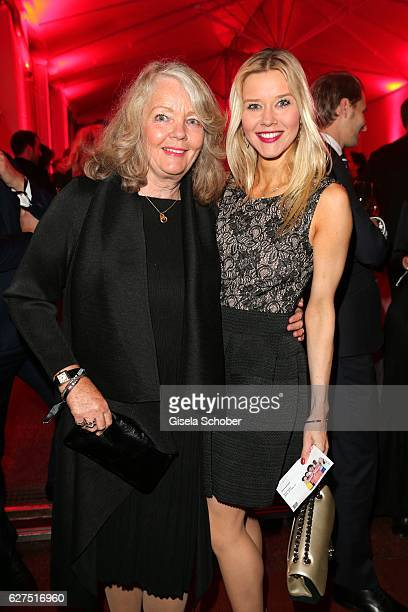 Armgard Seegers widow of Hellmuth Karasek and her daughter Laura Karasek during the Ein Herz Fuer Kinder after show party at Borchardt Restaurant on...