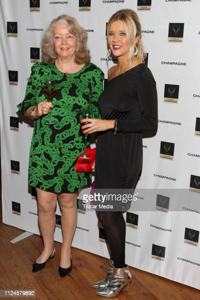 Armgard SeegersKarasek and her daughter Laura Karasek during the Champagne Award for Vitality on February 11 2019 in Hamburg Germany
