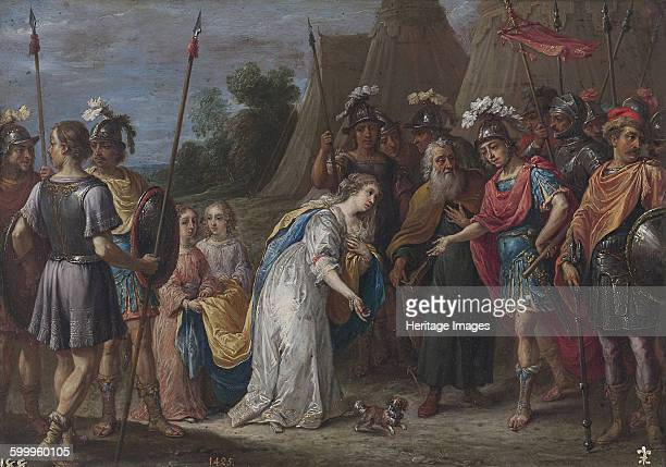 Armida before Godfrey of Bouillon, 1628?1630. Found in the collection of Museo del Prado, Madrid. Artist : Teniers, David, the Younger .