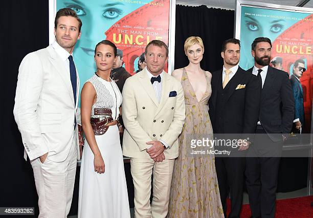 Armie Hammer Alicia Vikander Guy Ritchie Elizabeth Debicki Henry Cavill and Luca Calvani attend the New York Premiere of 'The Man From UNCLE' at...