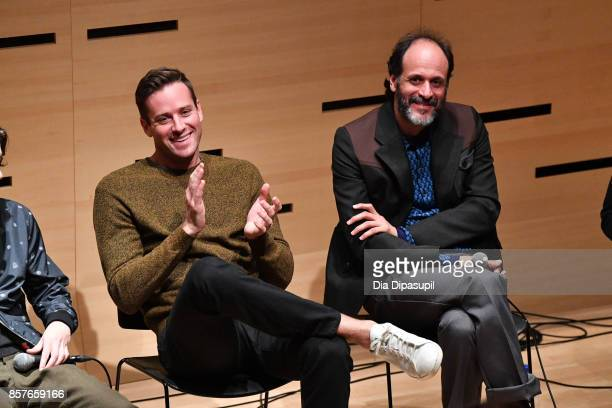 Armie Hammer and director Luca Guadagnino attend NYFF Live Making 'Call Me by Your Name' during the 55th New York Film Festival at Elinor Bunin...