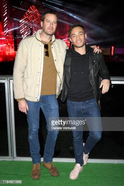 Armie Hammer and Ed Westwick attend the MDL Beast Festival on December 19 2019 in Riyadh Saudi Arabia