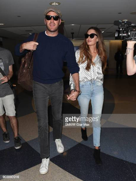 Armie Hammer and Elizabeth Chambers are seen on January 10 2018 in Los Angeles CA