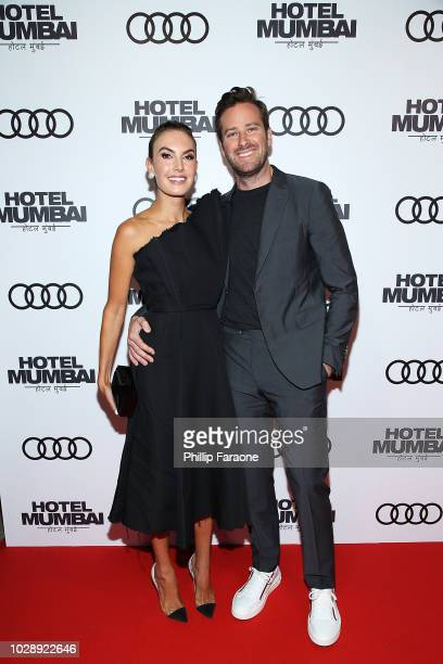 Armie Hammer and Elizabeth Chambers arrive at the post screening event for Hotel Mumbai at Windsor Arms Hotel on September 7 2018 in Toronto Canada