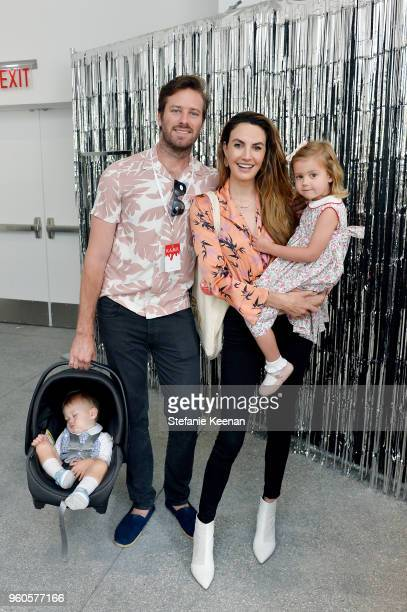 Armie Hammer and Elizabeth Chambers attend Hammer Museum KAMP 2018 at Hammer Museum on May 20 2018 in Los Angeles California