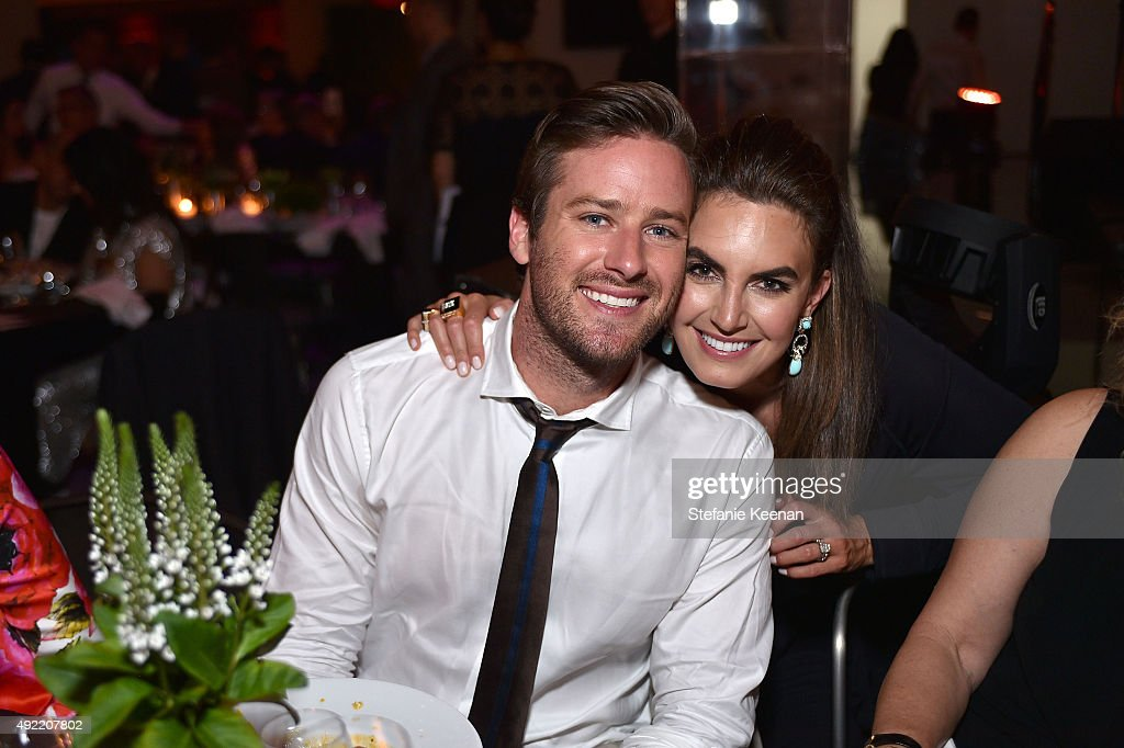 Armie Hammer and Elizabeth Chambers attend Hammer Museum's 'Gala in the Garden' Sponsored by Bottega Veneta at Hammer Museum on October 10, 2015 in Westwood, California.