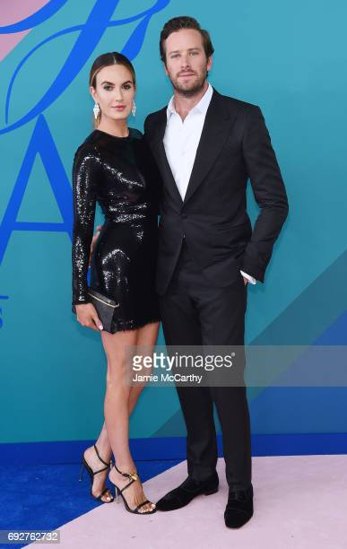 Armie Hammer and Elizabeth Chambers attend the 2017 CFDA Fashion Awards at Hammerstein Ballroom on June 5 2017 in New York City