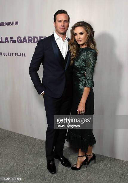 Armie Hammer and Elizabeth Chambers attend the 2018 Hammer Museum Gala In The Garden on October 14 2018 in Los Angeles California