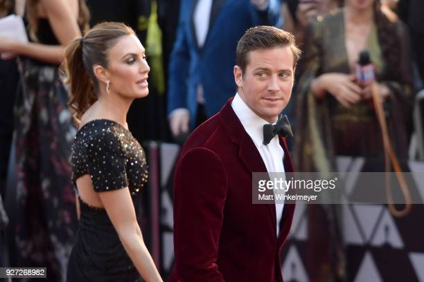 Armie Hammer and Elizabeth Chambers attend the 90th Annual Academy Awards at Hollywood & Highland Center on March 4, 2018 in Hollywood, California.