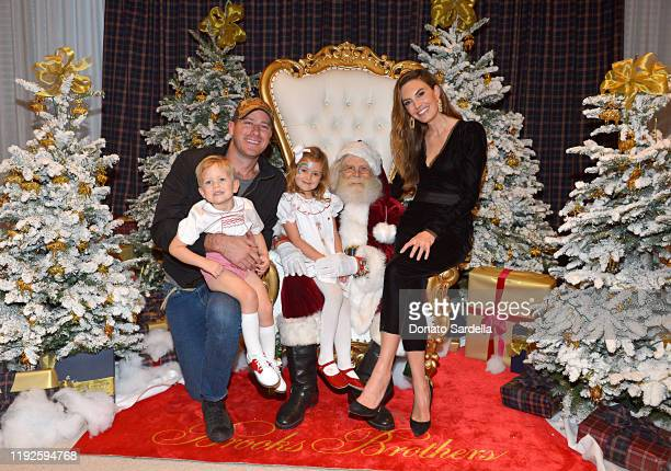Armie Hammer and Elizabeth Chambers attend the Brooks Brothers and St Jude Children's Research Hospital Annual Holiday Celebration at The West...