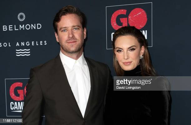 Armie Hammer and Elizabeth Chambers attend the Go Campaign's 13th Annual Go Gala at NeueHouse Hollywood on November 16 2019 in Los Angeles California
