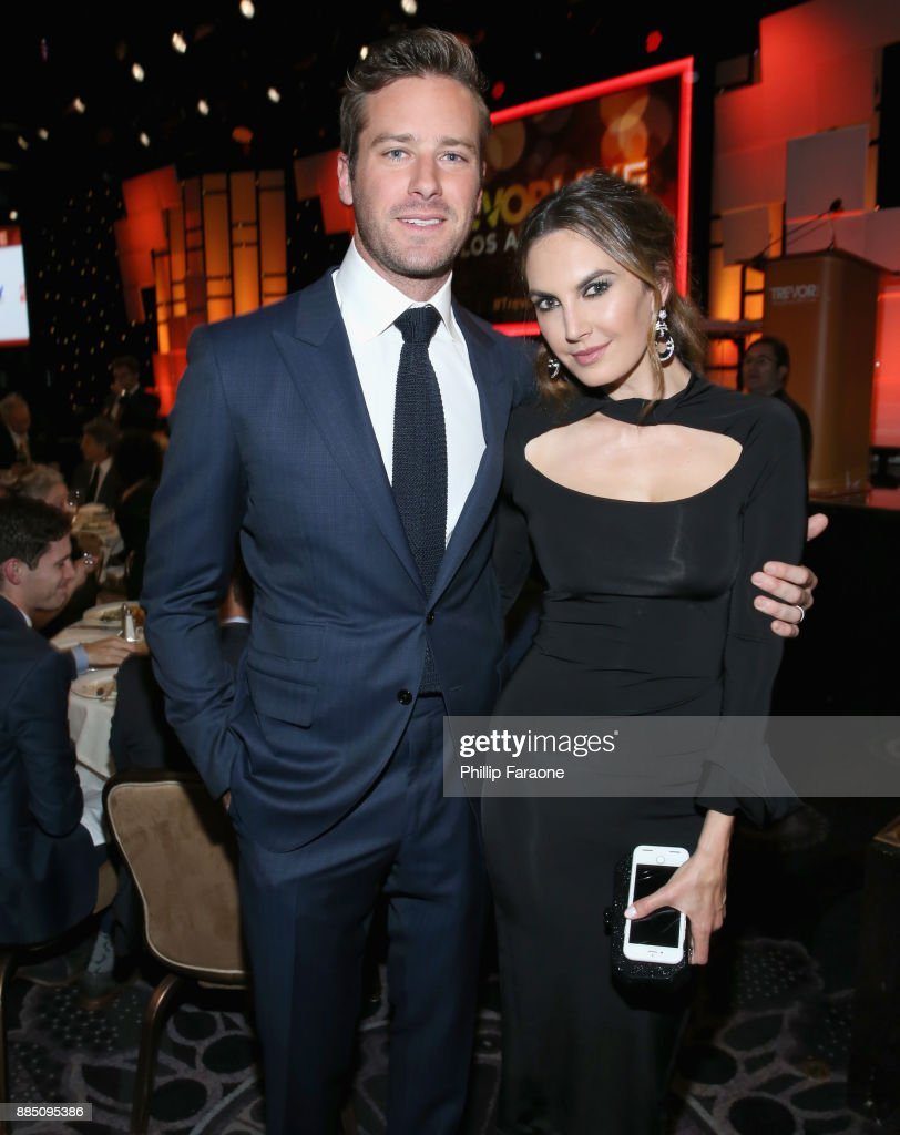 Armie Hammer (L) and Elizabeth Chambers attend The Trevor Project's 2017 TrevorLIVE LA Gala at The Beverly Hilton Hotel on December 3, 2017 in Beverly Hills, California.