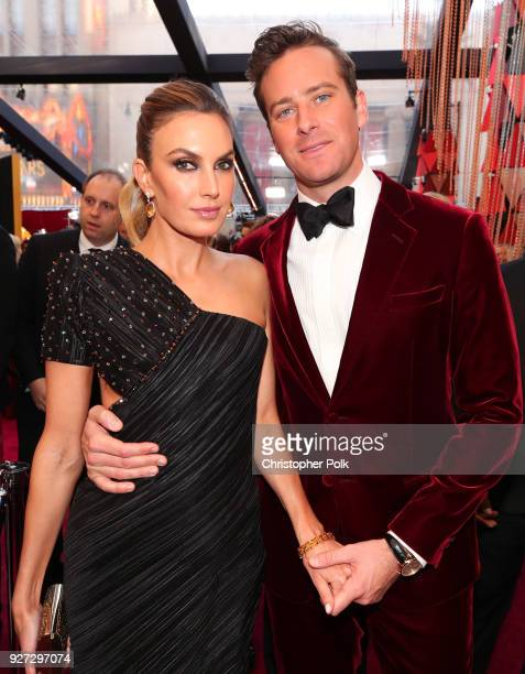 Armie Hammer and Elizabeth Chambers attends the 90th Annual Academy Awards at Hollywood Highland Center on March 4 2018 in Hollywood California
