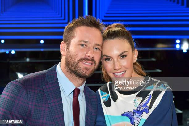 Armie Hammer and Elizabeth Chambers pose during the 2019 Film Independent Spirit Awards on February 23 2019 in Santa Monica California