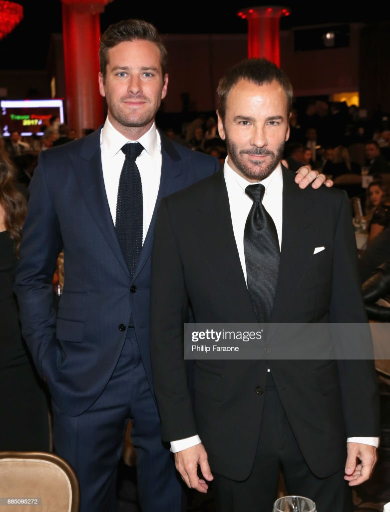 Armie Hammer (L) and honoree Tom Ford attend The Trevor Project's 2017 TrevorLIVE LA Gala at The Beverly Hilton Hotel on December 3, 2017 in Beverly Hills, California.