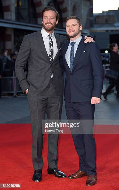 Armie Hammer and Jack Reynor attend the 'Free Fire' Closing Night Gala during the 60th BFI London Film Festival at Odeon Leicester Square on October...