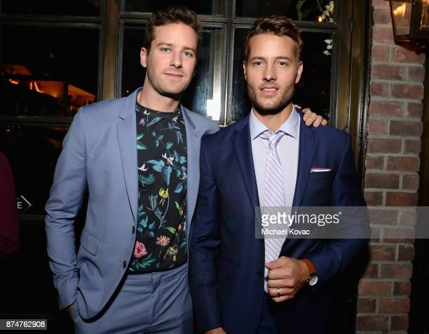 Armie Hammer and Justin Hartley at Moet Celebrates The 75th Anniversary of The Golden Globes Award Season at Catch LA on November 15 2017 in West...