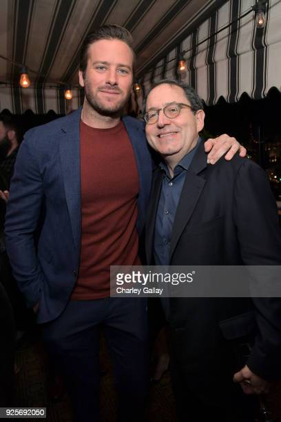 Armie Hammer and Sony Pictures Classics CoPresident and CoFounder Michael Barker attend the Vanity Fair and Barneys New York celebration of Sony...