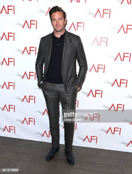 Armie Hammer arrives at the 18th Annual AFI Awards on January 5 2018 in Los Angeles California