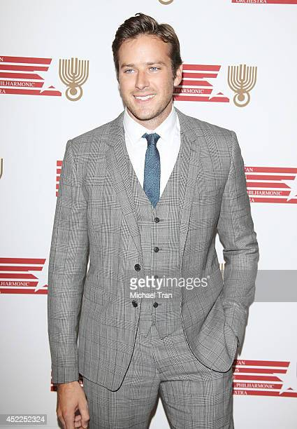 Armie Hammer arrives at the Israeli Philharmonic Orchestra's Lifetime Achievement Award Ceremony honoring Hans Zimmer held at Wallis Annenberg Center...