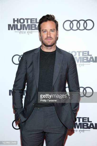 Armie Hammer arrives at the post screening event for Hotel Mumbai at Windsor Arms Hotel on September 7 2018 in Toronto Canada
