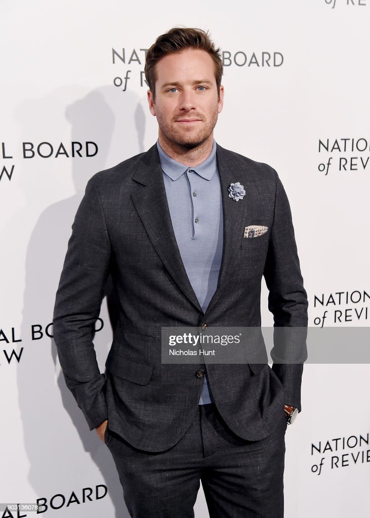 Armie Hammer attend the 2018 National Board Of Review Awards Gala at Cipriani 42nd Street on January 9, 2018 in New York City.