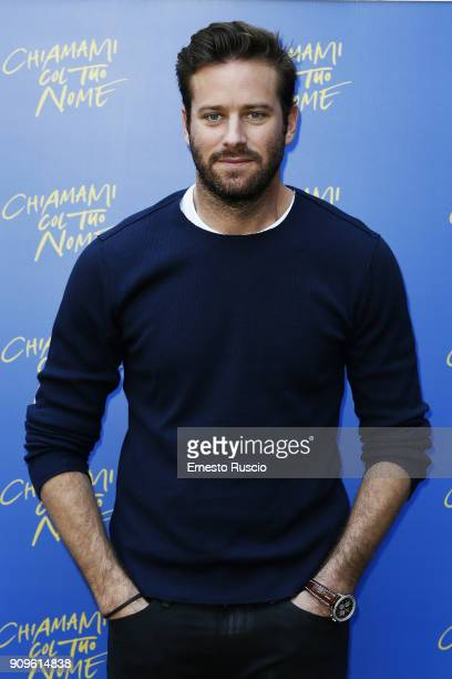 Armie Hammer attends 'Chiamami Col Tuo Nome ' at Hotel De Roussie on January 24 2018 in Rome Italy