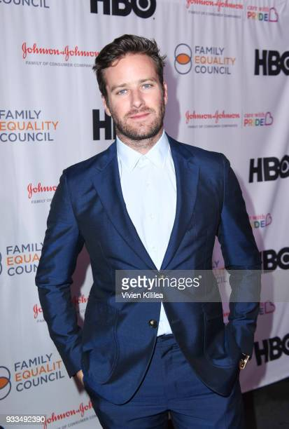Armie Hammer attends Family Equality Council's Impact Awards at the Globe Theatre Universal Studios at The Globe Theatre at Universal Studios on...