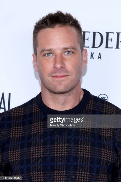 Armie Hammer attends Los Angeles Confidential and Armie Hammer celebrate the annual awards issue with Belvedere Vodka on January 24 2019 in Los...