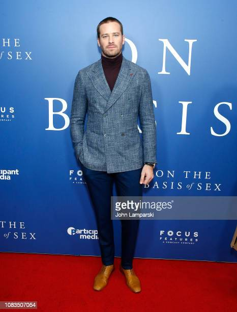 Armie Hammer attends On The Basis Of Sex New York City Screening at Walter Reade Theater on December 16 2018 in New York City