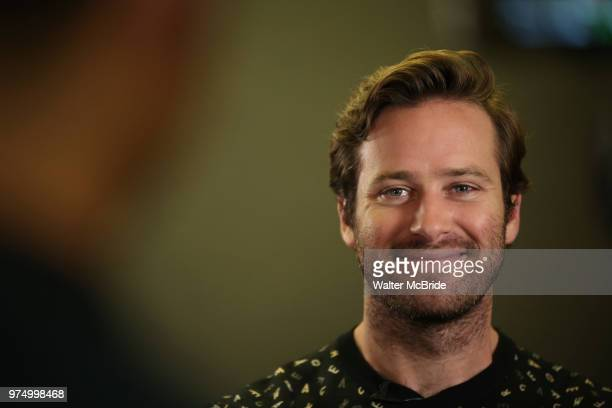 Armie Hammer attends photo call for the Second Stage Theatre Company production of 'Straight White Men' at Sardi's on June 14 30 2018 in New York City