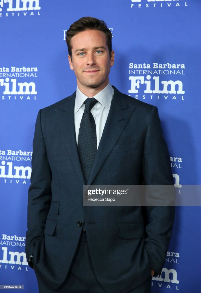 Armie Hammer attends Santa Barbara International Film Festival Kirk Douglas Award of Excellence Dinner sponsored by Belvedere Vodka honoring Dame Judi Dench at Bacara Resport And Spa on November 30, 2017 in Santa Barbara, California.