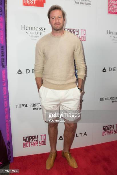 Armie Hammer attends Sorry To Bother You 10th Annual BAMcinemaFest Opening Night Premiere at BAM Harvey Theater on June 20 2018 in New York City