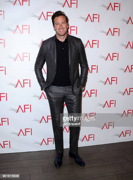 Armie Hammer attends the 18th Annual AFI Awards at Four Seasons Hotel Los Angeles at Beverly Hills on January 5 2018 in Los Angeles California