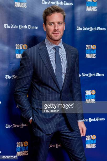 Armie Hammer attends the 2017 IFP Gotham Awards at Cipriani Wall Street on November 27 2017 in New York City