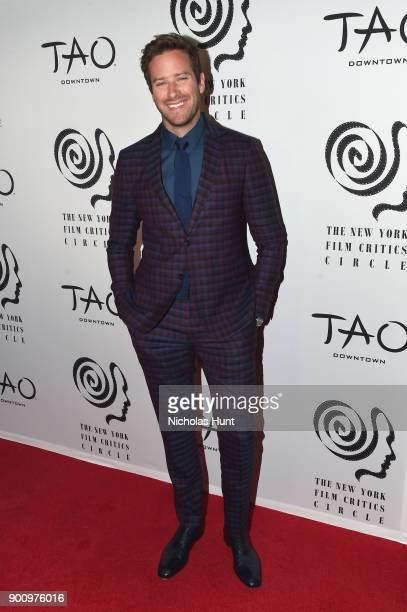 Armie Hammer attends the 2017 New York Film Critics Awards at TAO Downtown on January 3 2018 in New York City