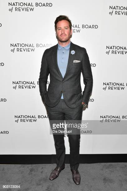 Armie Hammer attends the 2018 National Board of Review Awards Gala at Cipriani 42nd Street on January 9 2018 in New York City