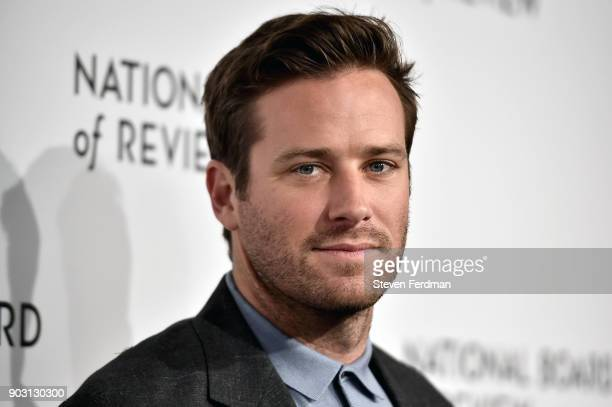 Armie Hammer attends the 2018 The National Board Of Review Annual Awards Gala at Cipriani 42nd Street on January 9 2018 in New York City