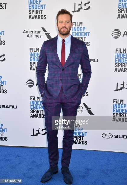 Armie Hammer attends the 2019 Film Independent Spirit Awards on February 23 2019 in Santa Monica California