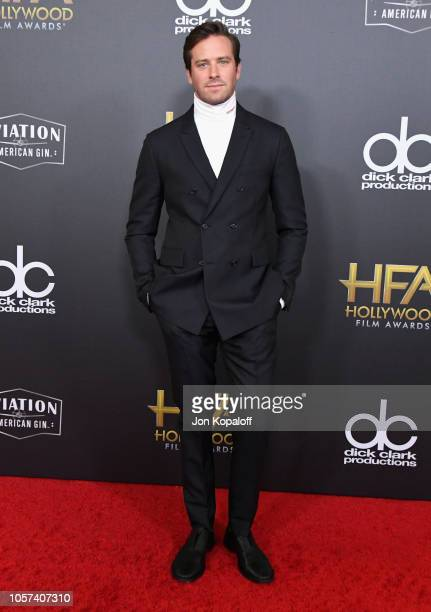 Armie Hammer attends the 22nd Annual Hollywood Film Awards at The Beverly Hilton Hotel on November 4 2018 in Beverly Hills California