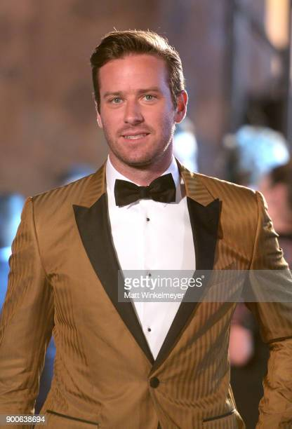 Armie Hammer attends the 29th Annual Palm Springs International Film Festival Awards Gala at Palm Springs Convention Center on January 2 2018 in Palm...