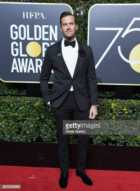Armie Hammer attends The 75th Annual Golden Globe Awards at The Beverly Hilton Hotel on January 7 2018 in Beverly Hills California