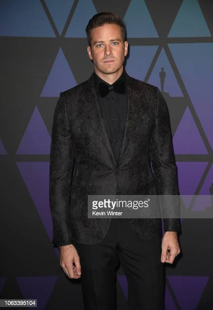 Armie Hammer attends the Academy of Motion Picture Arts and Sciences' 10th annual Governors Awards at The Ray Dolby Ballroom at Hollywood Highland...
