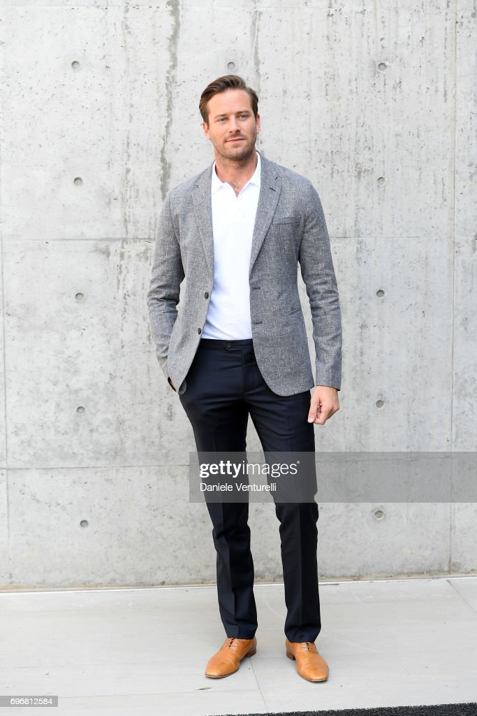 Armie Hammer attends the Emporio Armani show during Milan Men's Fashion Week Spring/Summer 2018 on June 17, 2017 in Milan, Italy.