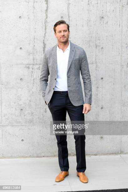 Armie Hammer attends the Emporio Armani show during Milan Men's Fashion Week Spring/Summer 2018 on June 17 2017 in Milan Italy