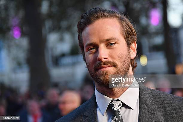 Armie Hammer attends the 'Free Fire' Closing Night Gala screening during the 60th BFI London Film Festival at Odeon Leicester Square on October 16,...